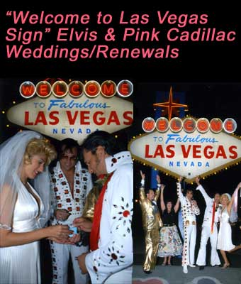"""Welcome to Las Vegas Sign"" Elvis & Pink Cadillac"
